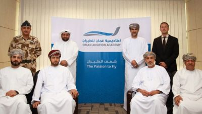 Oman Aviation Academy business identity, website launched